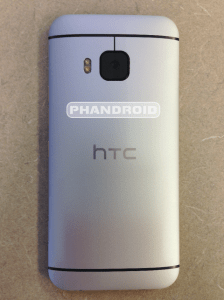 HTC One M9 rear shot