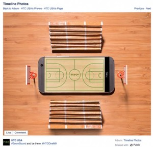 HTC One M9 promo messed up