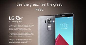 LG G4 trial program