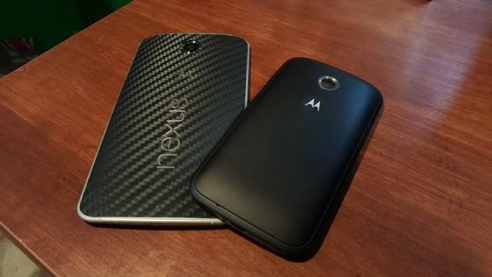 Moto E compared to Nexus 6
