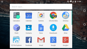 Android M Developer Preview app drawer rotated