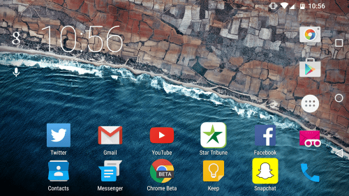Android M Developer Preview homescreen rotation 2
