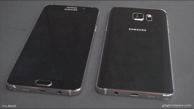 Galaxy Note 5 back to front