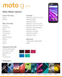 Moto G 2015 Moto Maker