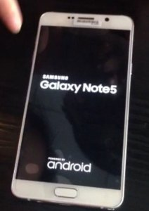 Samsung Note boot screen