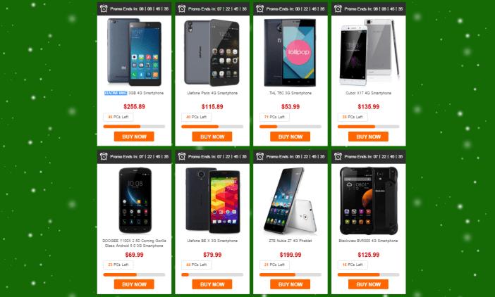 GearBest smartphone Christmas sales