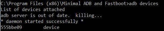 Minimal ADB and Fastboot Nexus 6P