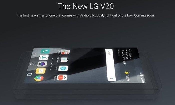 LG V20 Android 7.0 Nougat