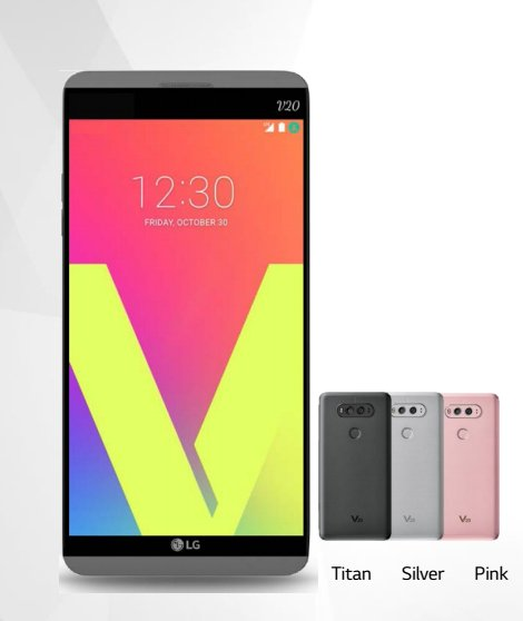 LG V20 will come in three colors