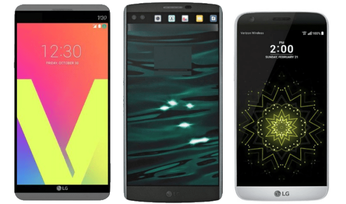 LG V20 compared to the LG V10 and LG G5