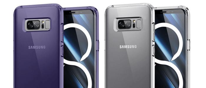 Galaxy Note 8 in case