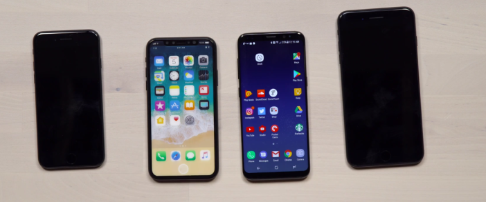 iPhone 8 compared to Galaxy S8