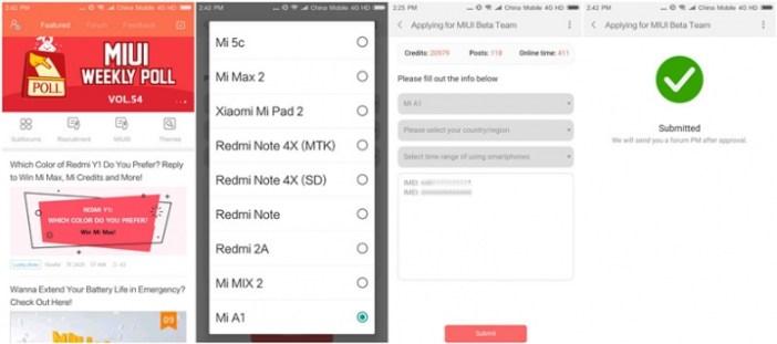 Enroll Mi A1 Android Oreo Beta