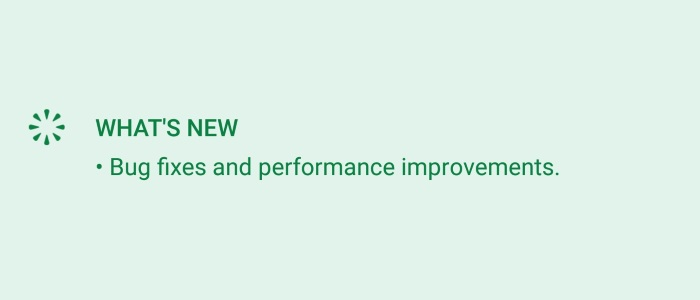 Typical Google Release Notes