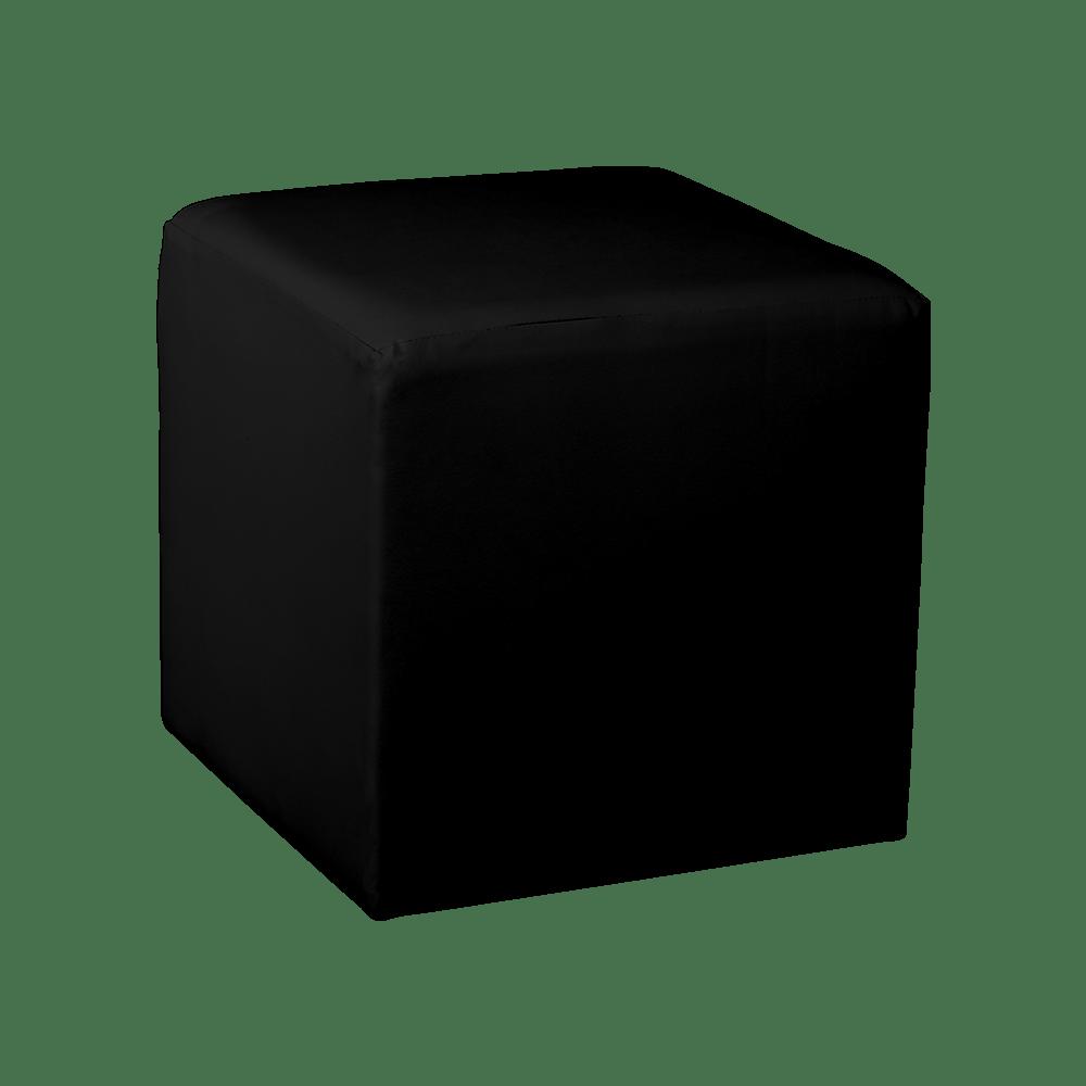square cube ottoman black