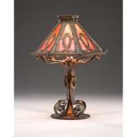 Bradley & Hubbard Slag Glass Table Lamp | Cowan's Auction ...