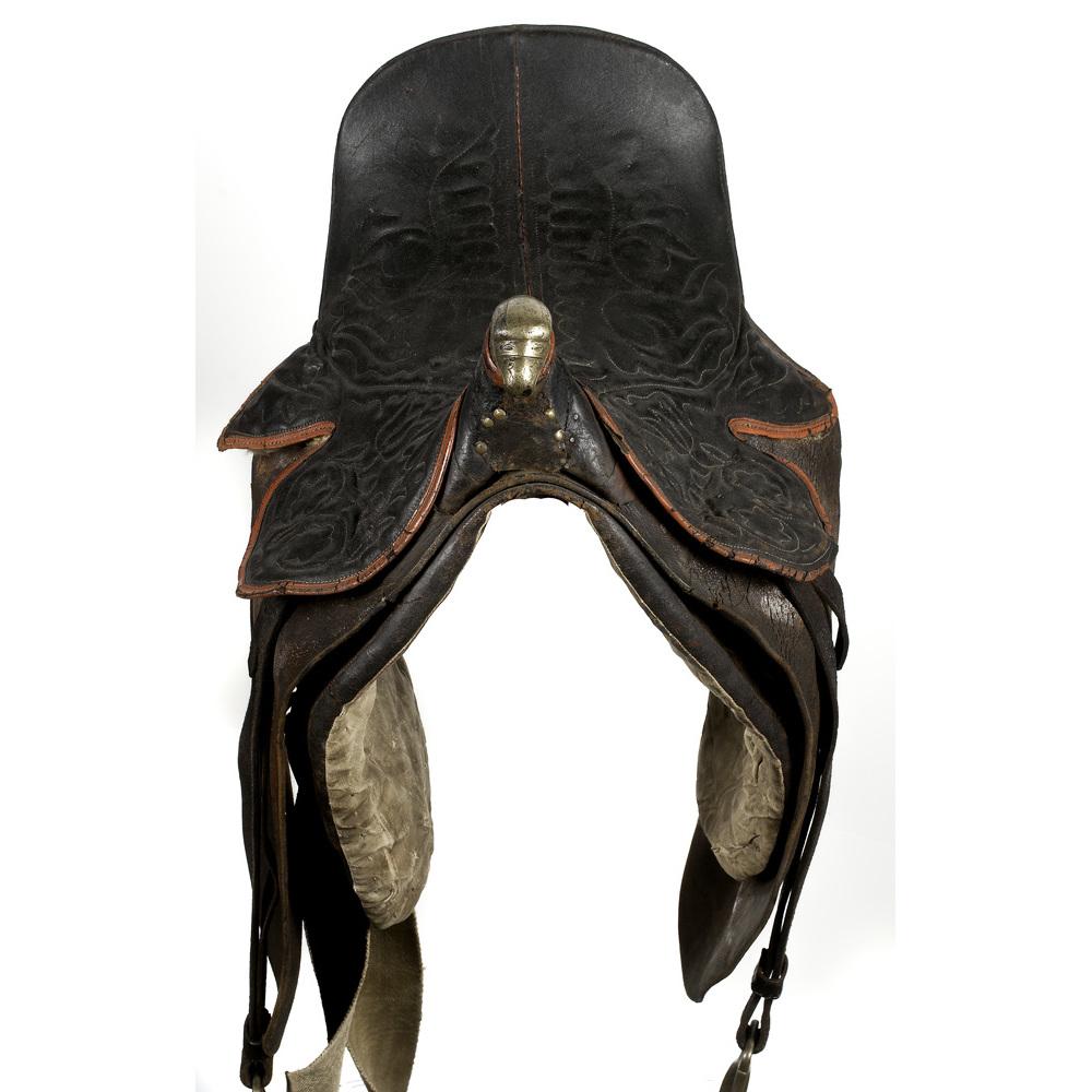 Eagle Head Pommel US Officer's Saddle with Stirrup