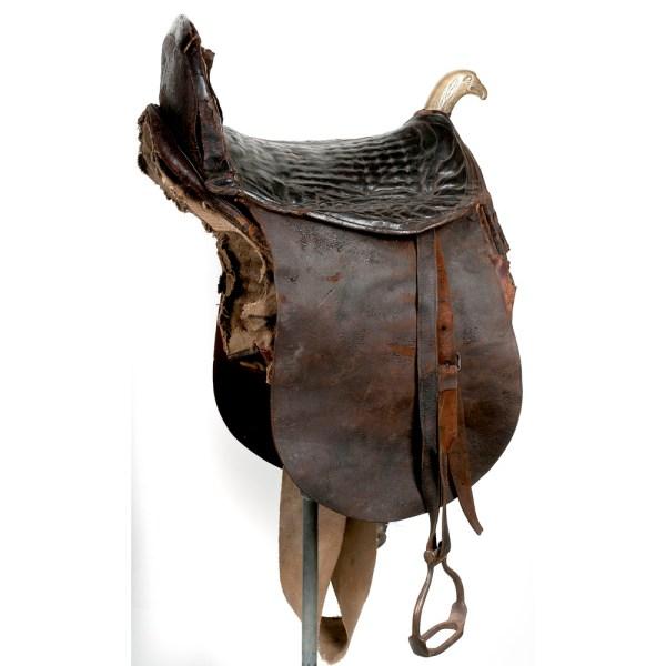 Eagle Pommel Officer' Saddle Ca. 1830 Cowan' Auction