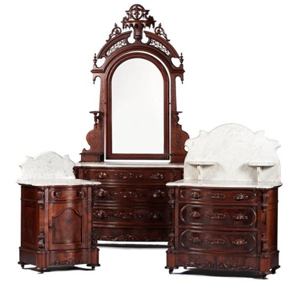 Mudge Furniture . Rococo Revival Bedroom Suite Cowan' Auction House Midwest'