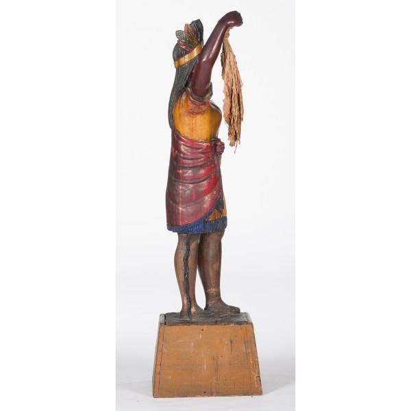 Cigar Store Indian Figure Cowan' Auction House