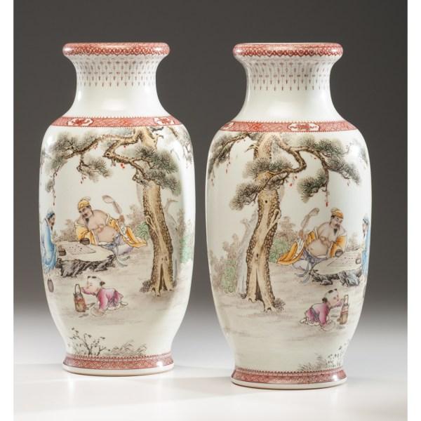 Chinese Republic Period Porcelain Vases Cowan' Auction