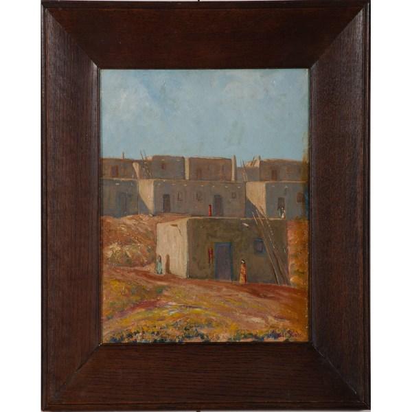 Oscar Strobel Cincinnati 1891-1967 Oil Canvas