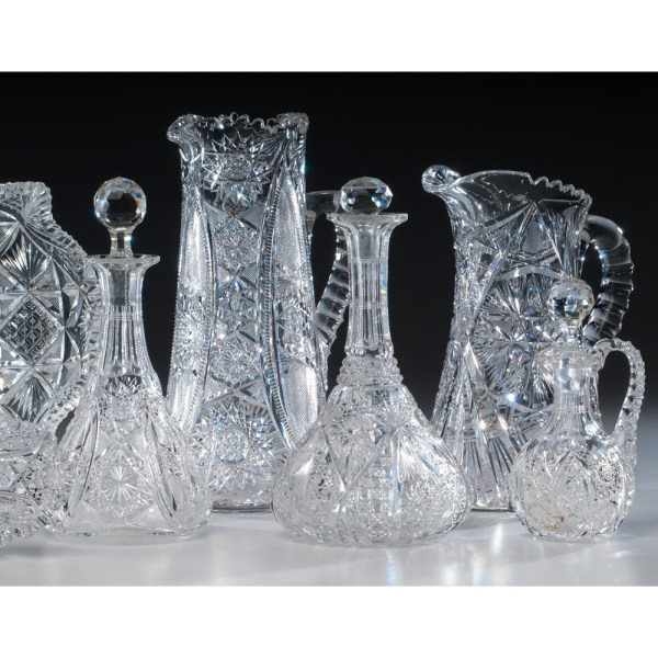 American Brilliant Cut Glass Wares Cowan' Auction