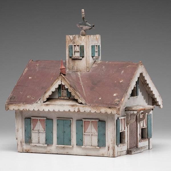 Folk Art Bird House With Weathervane Cowan' Auction