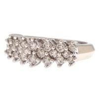 One Carat Total Weight Diamond Ring in 14 Karat White Gold ...