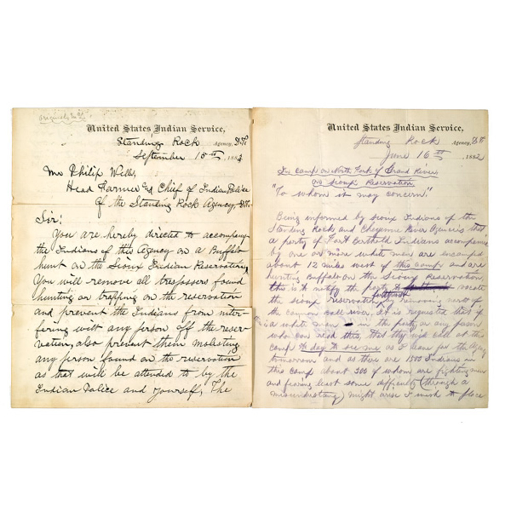 James Mclaughlin's Letters Regarding The Buffalo Hunts Of 1882 And 1883,
