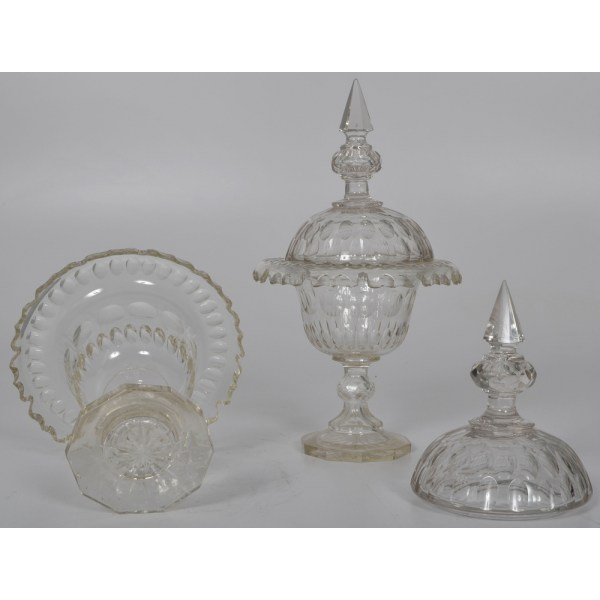 Cut Glass Compotes Cowan' Auction House Midwest'