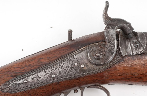 Wesson Target Percussion Rifle Cowan' Auction House