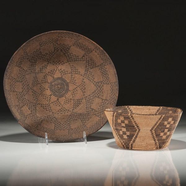 Apache And Akimel 'odham Pima Baskets Cowan' Auction