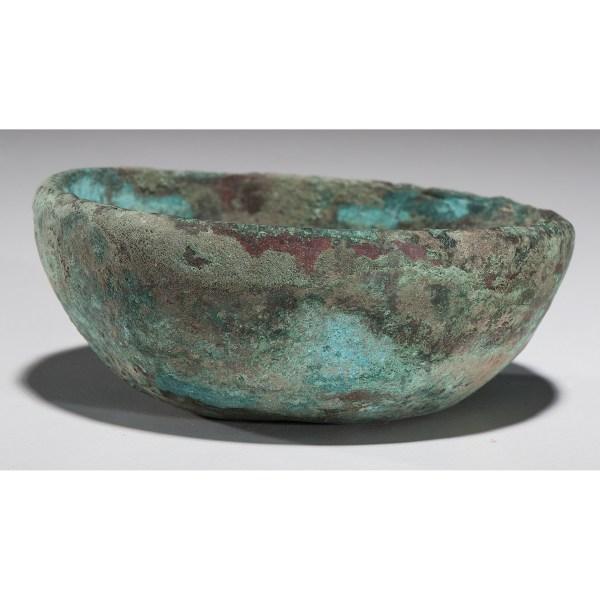 Rare Copper Hopewell Bowl Cowan' Auction House
