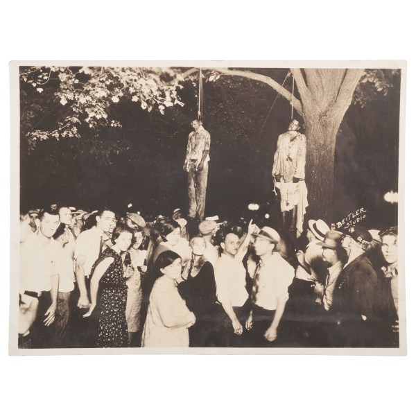 African American Double Lynching In Marion Indiana Pair