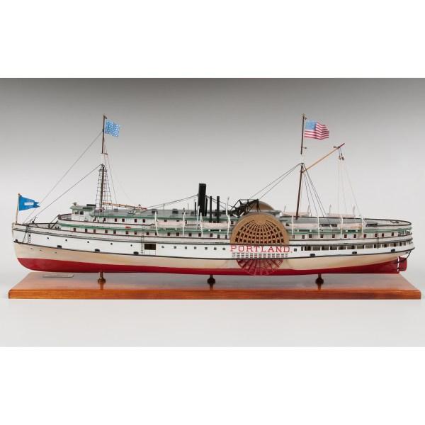 Model Of Steamboat Portland Cowan' Auction House