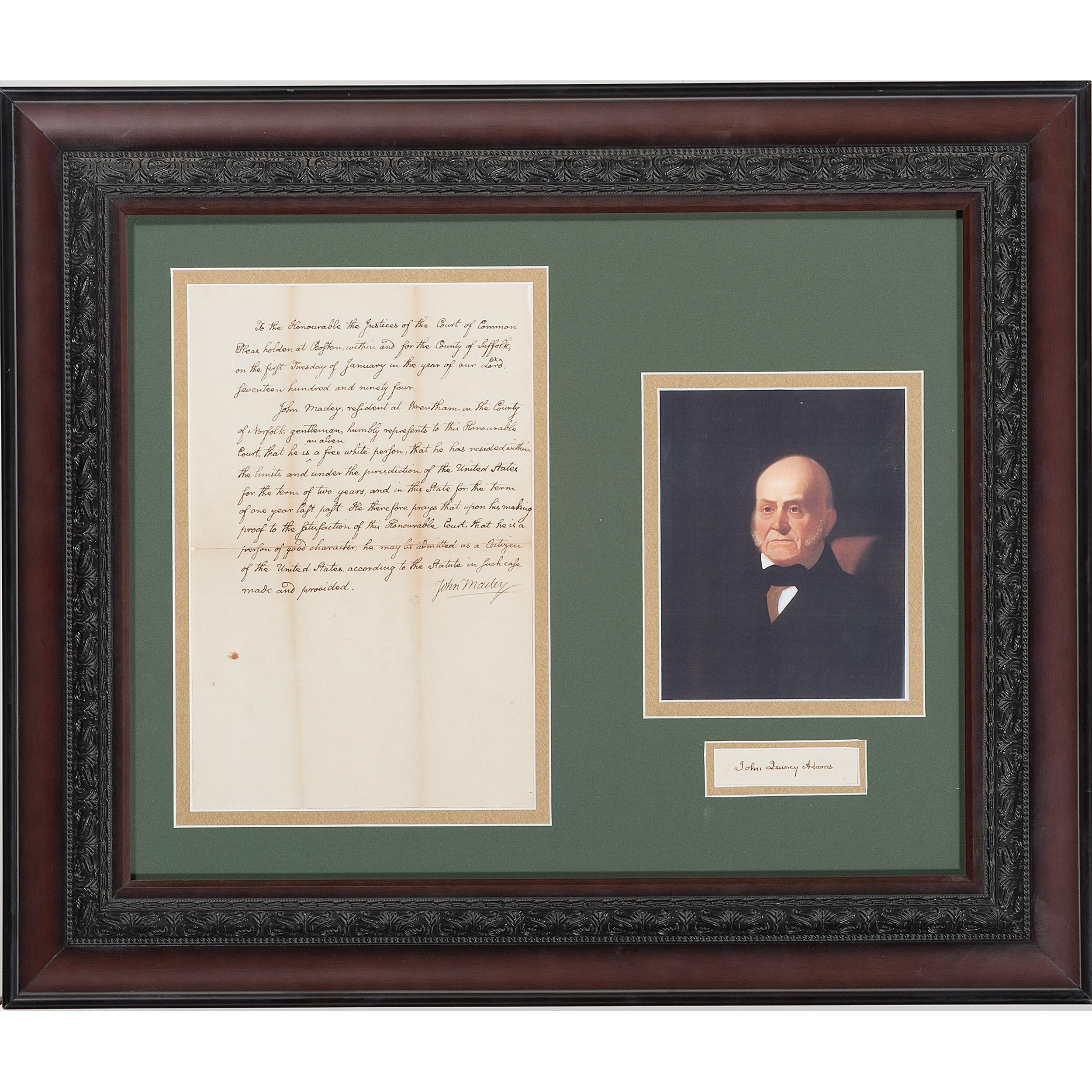John Quincy Adams Clipped Signature And M Cript