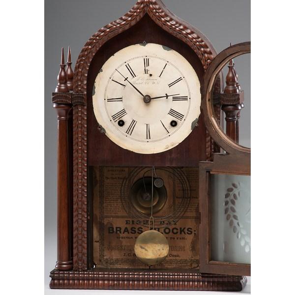 Forestville Mfg. . Twin Steeple Gothic Clock Cowan'