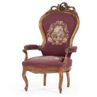 Victorian Balloon Back Needlepoint Arm Chair | Cowan's ...