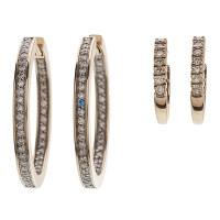 Diamond Hoop Earrings in 14 Karat Yellow Gold | Cowan's ...