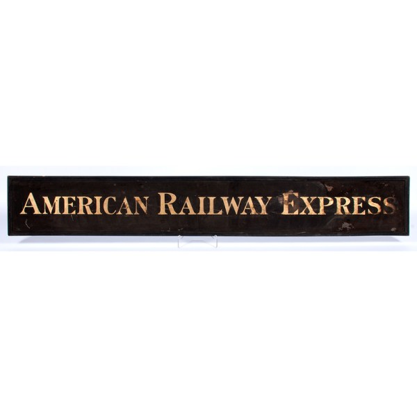American Railway Express Wooden Sign Cowan' Auction