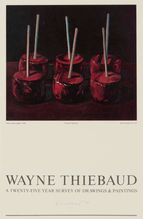 Signed Wayne Thiebaud Exhibition Poster Witherell'