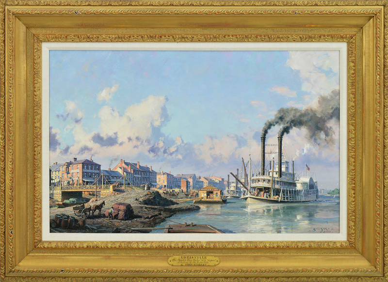 Louisville, The People's Line Packet-Wild Wagoneer Arriving at the Levee in 1868