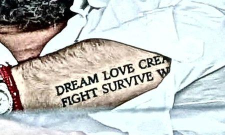 Βαγγέλης Μαρινάκης τατουάζ dream love create fight survive win