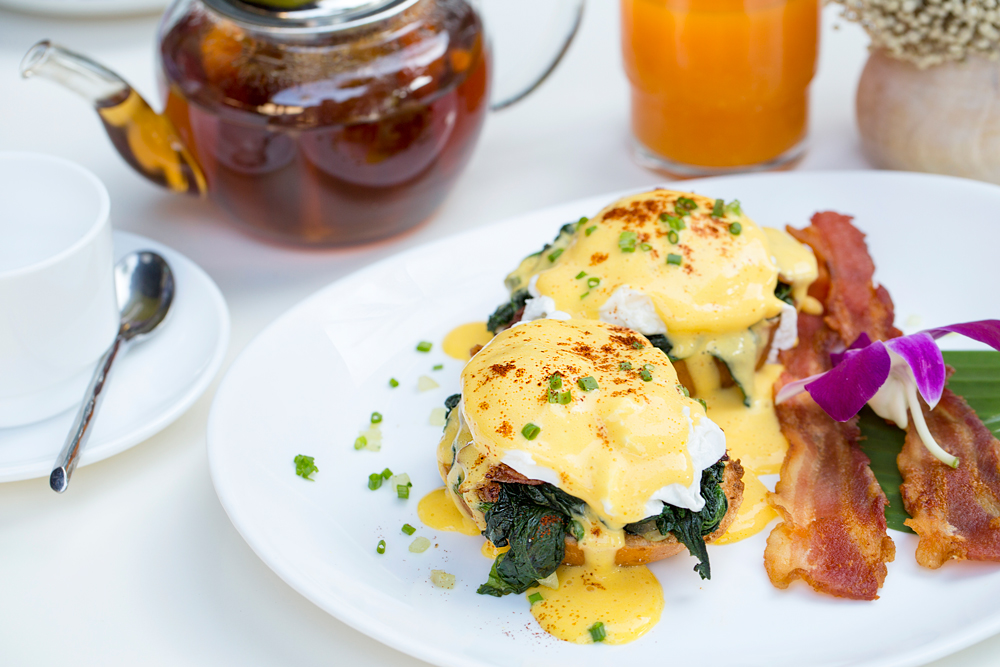 Eggs Benedict Florentine is perfect with Prosecco Rosè