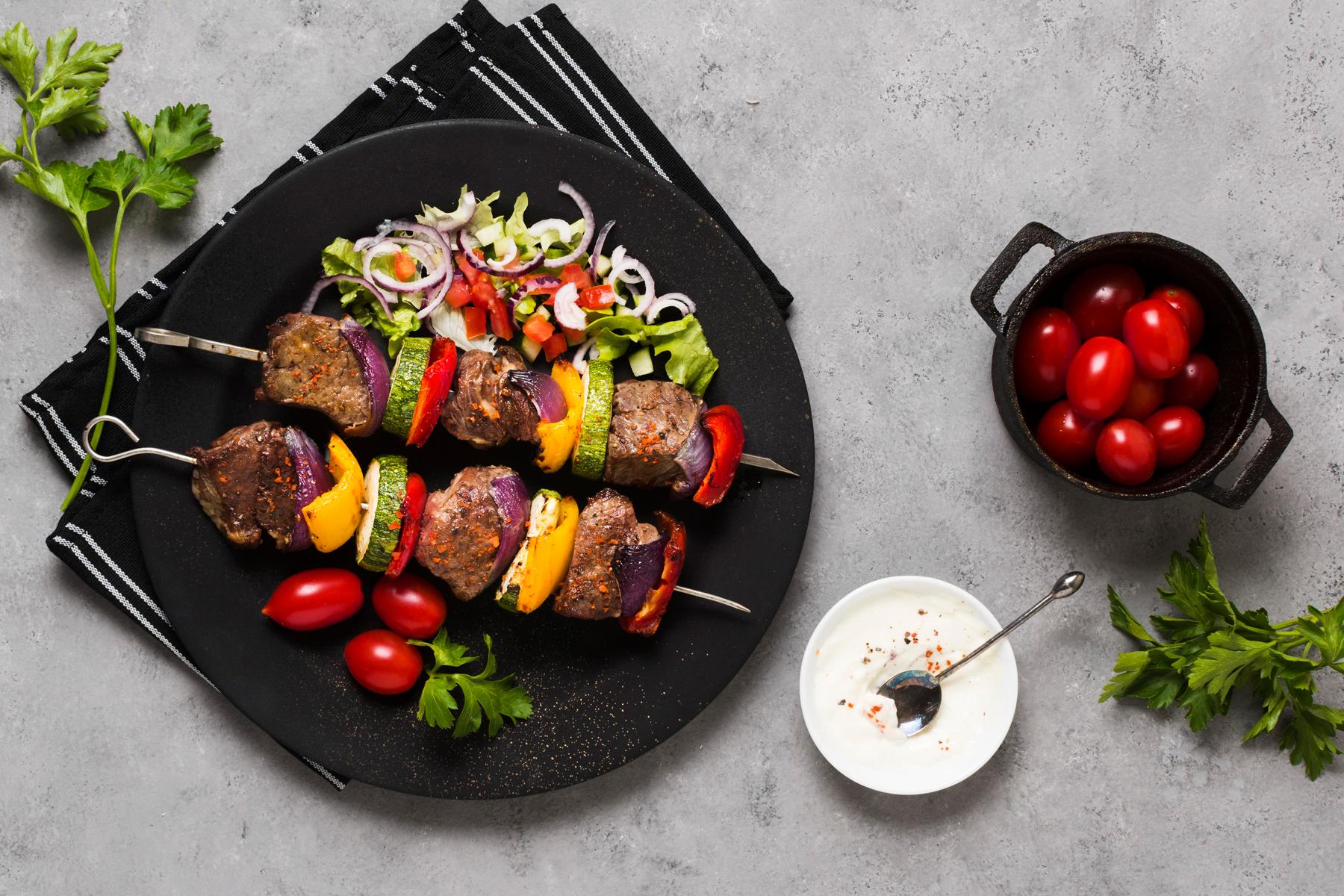 Steak Kabobs with Zinfandel