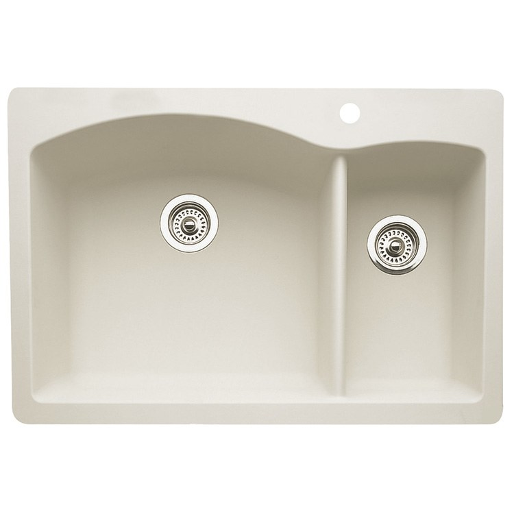 33 x 22 kitchen sink accessories stores blanco 440201 f w webb online ordering diamond 33x22 depth 9 1 2 and 8 double bowl hole biscuit drop in undermount rectangle