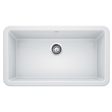kitchen sink 33x19 white cabinets lowes blanco 401899 f w webb online ordering ikon depth 9 1 4 single bowl apron front rectangle