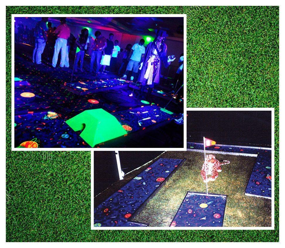 Cosmic 9 Hole Mini Golf With Black Lights Rental Fantasy