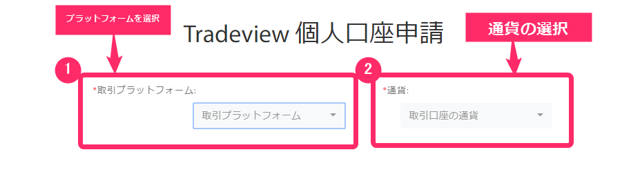 tradeview 口座開設手順 画像付き 口座開設申請